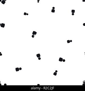 Icon silhouette of people seamless pattern. Simple vector illustration. Isolated on a white background. - Stock Photo