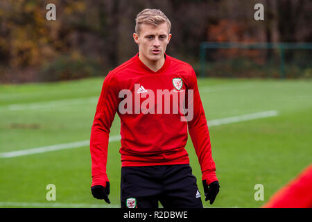Cardiff, Wales. 15th November, 2018. Wales train ahead of their upcoming friendly against Albania. Lewis Mitchell/YCPD. Credit: Lewis Mitchell/Alamy Live News - Stock Photo