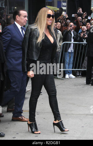 New York, NY, USA. 19th Nov, 2018. Mariah Carey seen after an appearance on Good Morning America promoting her new album Caution on November 19, 2018 in New York City. Credit: Rw/Media Punch/Alamy Live News - Stock Photo