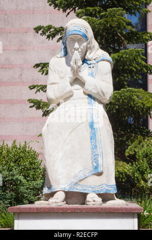 The statue of Mother Teresa in front of Saint Paul's Cathedral in Tirana, the capital and biggest city of Albania. September 7, 2018. (CTK Photo/Libor - Stock Photo