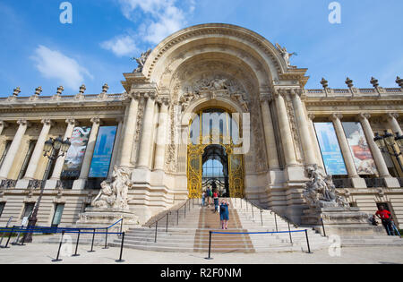 PARIS, FRANCE, SEPTEMBER 5, 2018 - The entrance of the Petit Palais (Small Palace)  in Paris, France - Stock Photo