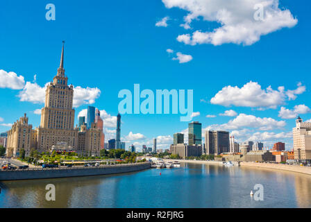 Moskva River, at former Hotel Ukraina, Moscow, Russia