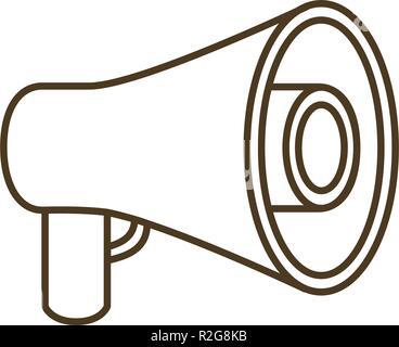 megaphone silhouette isoalted icon - Stock Photo