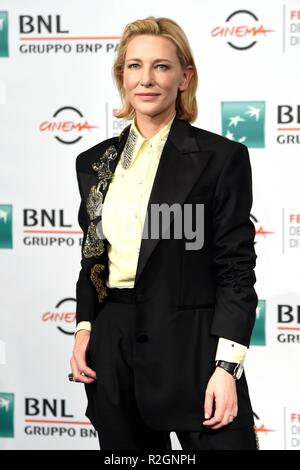 13th Rome Film Fest - 'The House With A Clock In Its Walls' - Photocall  Featuring: Cate Blanchett Where: Rome, Italy When: 19 Oct 2018 Credit: IPA/WENN.com  **Only available for publication in UK, USA, Germany, Austria, Switzerland** - Stock Photo