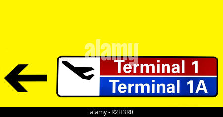 terminal 1 and 1a - Stock Photo