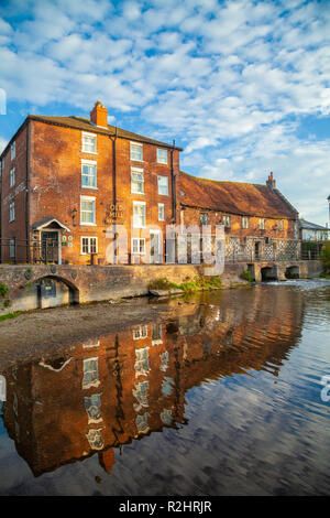The Old Mill Town Path, Harnham, Salisbury, Wiltshire - Stock Photo