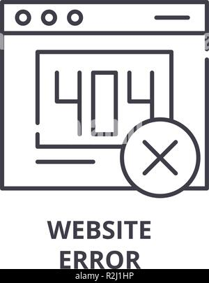 Website error line icon concept. Website error vector linear illustration, symbol, sign - Stock Photo