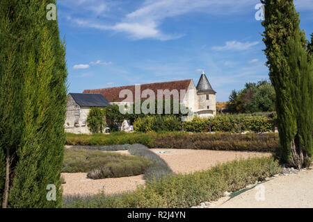 Exterior view at Chateau du Rivau, at Lemere, near Chinon, in the Loire Valley, France - Stock Photo