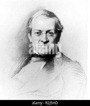 Drawing of Sir Charles Wheatstone, the English scientist and inventor - Stock Photo