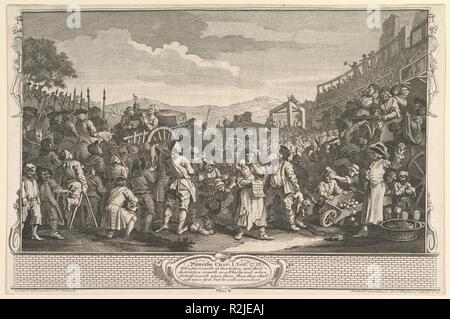 The Idle 'Prentice Executed at Tyburn (Industry and Idleness, plate 11). Artist: William Hogarth (British, London 1697-1764 London). Dimensions: sheet: 10 3/8 x 15 3/4 in. (26.4 x 40 cm). Date: September 30, 1747. Museum: Metropolitan Museum of Art, New York, USA. - Stock Photo