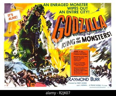 Godzilla, King of the Monsters! Year : 1956 USA / Japan Director : Inoshiro Honda, Terry Morse Poster (USA) - Stock Photo