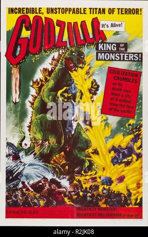 Godzilla, King of the Monsters! Year : 1956 USA / Japon Director : Inoshiro Honda, Terry Morse Poster (USA) - Stock Photo