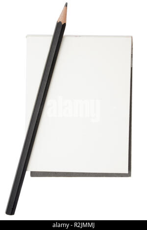 notepad with pencil - Stock Photo