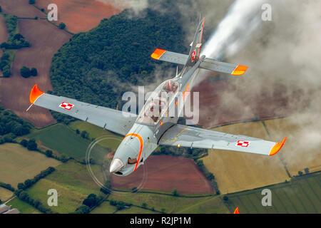 Orlik Aerobatic Team the aerobatic team of the Polish Air Force flying  the PZL-130 Orlik. Photographed at Royal International Air Tattoo (RIAT) - Stock Photo