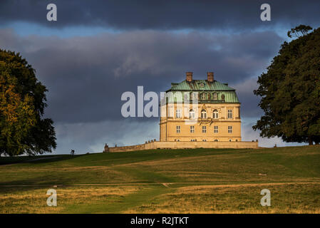 Hermitage, 18th century royal hunting lodge in Baroque style at Jaegersborg Dyrehaven / Jægersborg Dyrehave, forest park north of Copenhagen, Denmark - Stock Photo