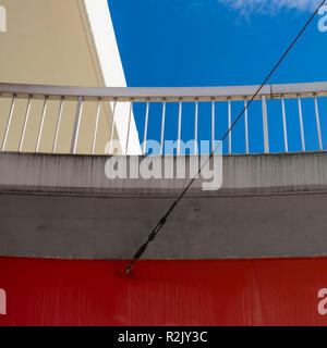 Abstract architectural detail of a bridge with sky - Stock Photo
