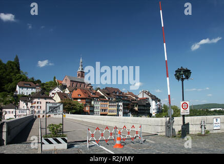 open border between switzerland and germany - Stock Photo