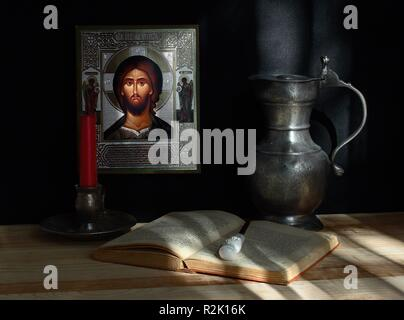 still life with icon. image 1 - Stock Photo