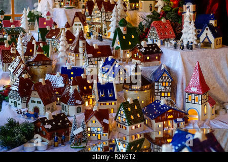 Christmas Market in Nuernberg, Germany - Stock Photo