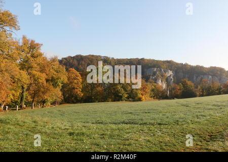 Auf dem Frauenberg oberhalb von Kloster Weltenburg in Kelheim - Stock Photo