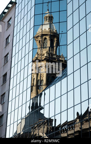 Metropolitan Cathedral, Plaza de Armas, Santiago, Chile, South America - Stock Photo