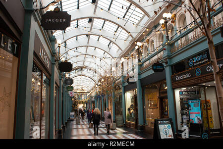 The Great Western Arcade in central Birmingham. - Stock Photo