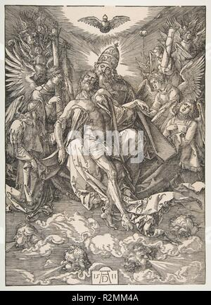 The Holy Trinity. Artist: Albrecht Dürer (German, Nuremberg 1471-1528 Nuremberg). Dimensions: sheet: 15 11/16 x 11 5/16 in. (39.8 x 28.7 cm). Date: 1511. Museum: Metropolitan Museum of Art, New York, USA. - Stock Photo