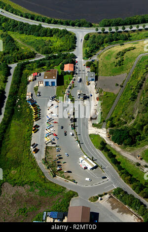 Aerial view, landfill Werthof, Hamm, Ruhr area, North Rhine-Westphalia, Germany, Europe, - Stock Photo