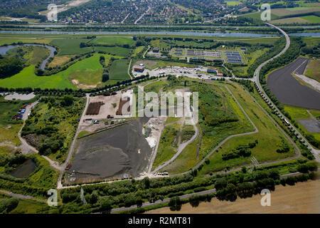 Aerial view, landfill, Hamm, Ruhr area, North Rhine-Westphalia, Germany, Europe, - Stock Photo