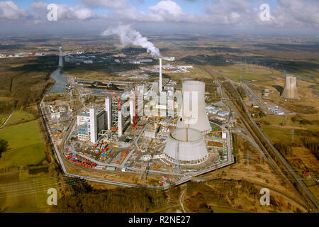Schmehausen, Hamm, RWE Power AG, Coal Power Plant, Westphalia, Hamm Uentrop, Ruhr Area, North Rhine-Westphalia, Germany, Europe, - Stock Photo