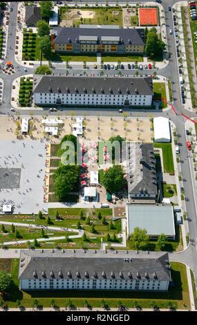 Landesgartenschau Hemer, attendance record on Pentecost Sunday, Garden Festival, conversion, former military area, Märkischer Kreis, Sauerland, North Rhine-Westphalia, Germany, Europe, - Stock Photo