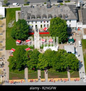 Landesgartenschau Hemer, attendance record on Pentecost Sunday, Garden Festival, conversion, former military area, Hemer, Sauerland, North Rhine-Westphalia, Germany, Europe, - Stock Photo