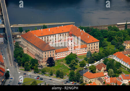 Aerial view, Zavodni, Litom??ice, Usti nad Labem, Czech republic, Europe, - Stock Photo
