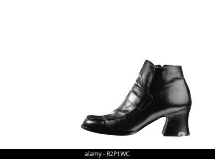 black ladies shoe - Stock Photo