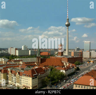 berlin-mitte with tv tower - Stock Photo