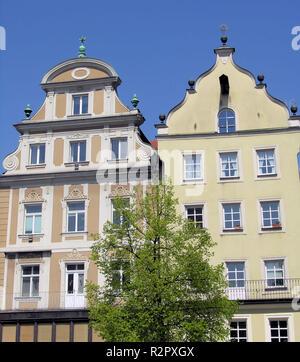 houses in regensburg - Stock Photo