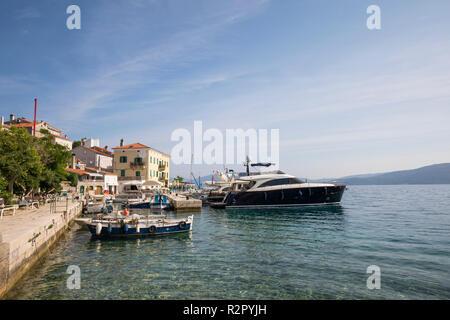 Harbour of Valun, Island of Cres, Kvarner Bay, Croatia - Stock Photo