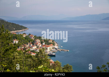 View of Valun, Island of Cres, Kvarner Bay, Croatia - Stock Photo