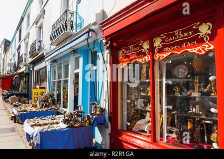England, London, Notting Hill, Portobello Road, Antique Shops - Stock Photo