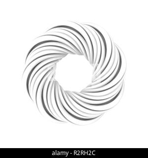 Monochrome Mobius object isolated on a white background. 3d rendering - Stock Photo