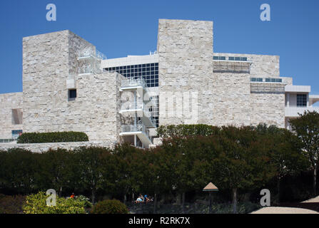 LOS ANGELES, USA - JUNE 4, 2009: The Getty Center museum in Los Angeles California USA was designed by architect Richard Meier in 1997 - Stock Photo