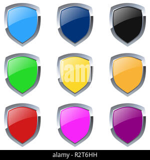 emblems colorful - Stock Photo