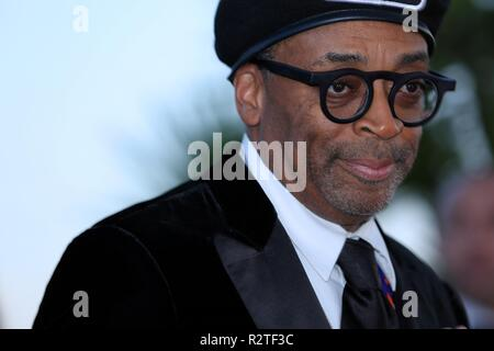 CANNES, FRANCE – MAY 19, 2018: Spike Lee at the Award Winners photocall during the 71st Cannes Film Festival (photo by Mickael Chavet) - Stock Photo