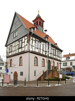 Old town hall in Bad Vilbel. Germany - Stock Photo