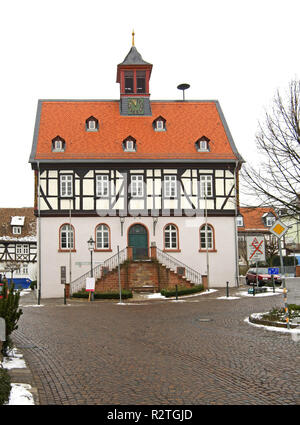Old townhouse in Bad Vilbel. Germany - Stock Photo
