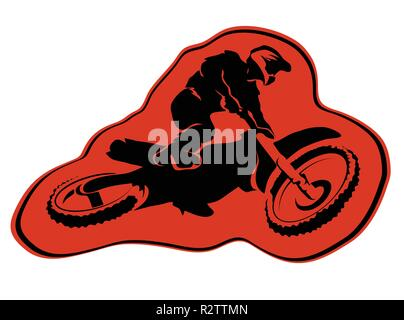 Moto enduro background Vector icon sticker design - Stock Photo