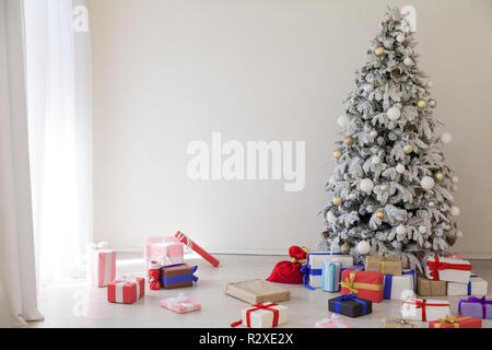 Christmas tree home decoration Gifts Christmas comfort new year - Stock Photo