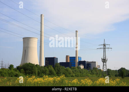 coal-fired power station ensdorf in the saarland - Stock Photo