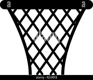 Basketball basket Streetball net basket icon black color vector I flat style simple image - Stock Photo
