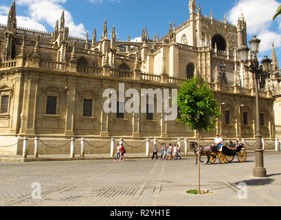 Cathedral of Seville. Andalusia. Spain - Stock Photo